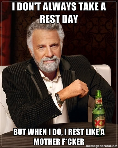Train smart, take an active rest day!