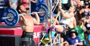 The 2014 CrossFit Games Champs - Rich Froning, Jr. and Camille Leblanc-Bazinet.  Photo courtesy of games.crossfit.com